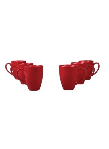 Kütahya Porselen Kütahya Porselen Naturaceram 6'Lı Prizma Mug Kırmızı